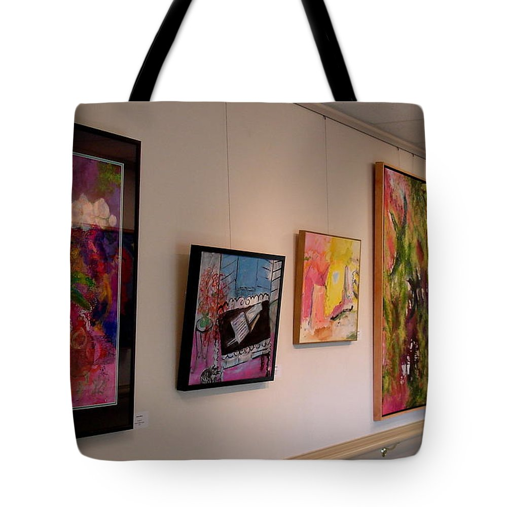 Tote Bag featuring the painting The Village Show 2015 - Various Artists by Susan Graham