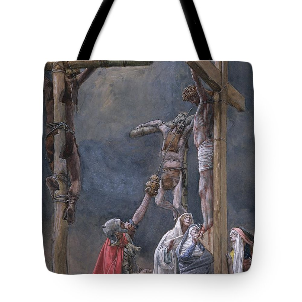 Vinegar Tote Bag featuring the painting The Vinegar Given To Jesus by Tissot