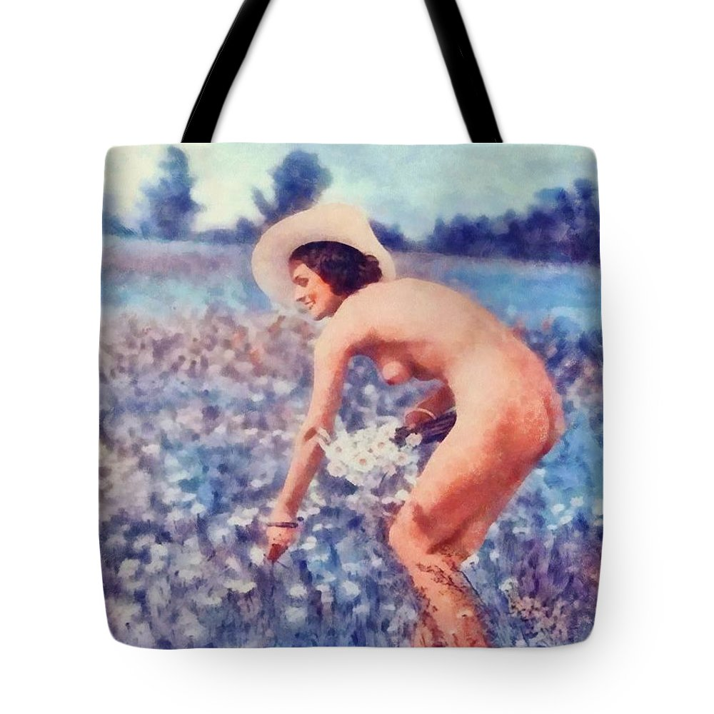 The Vintage Nudist Tote Bag