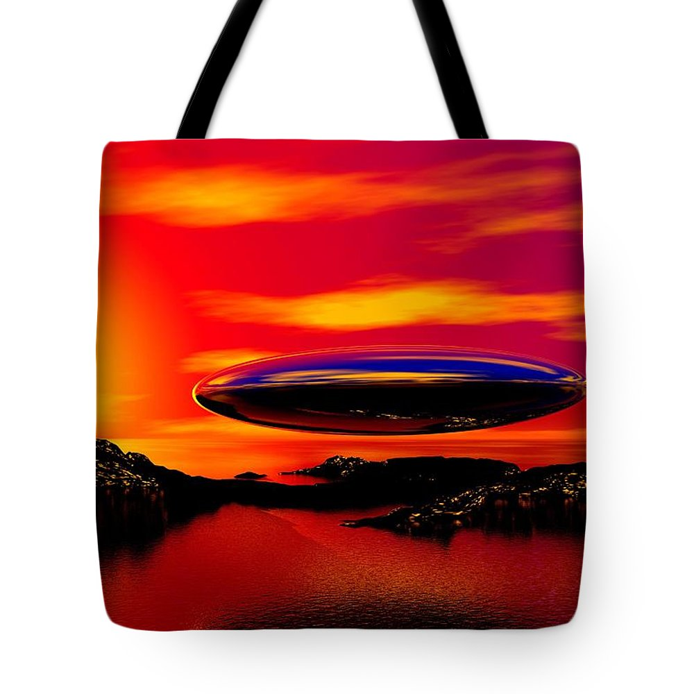 T Tote Bag featuring the digital art The Visitor by David Lane
