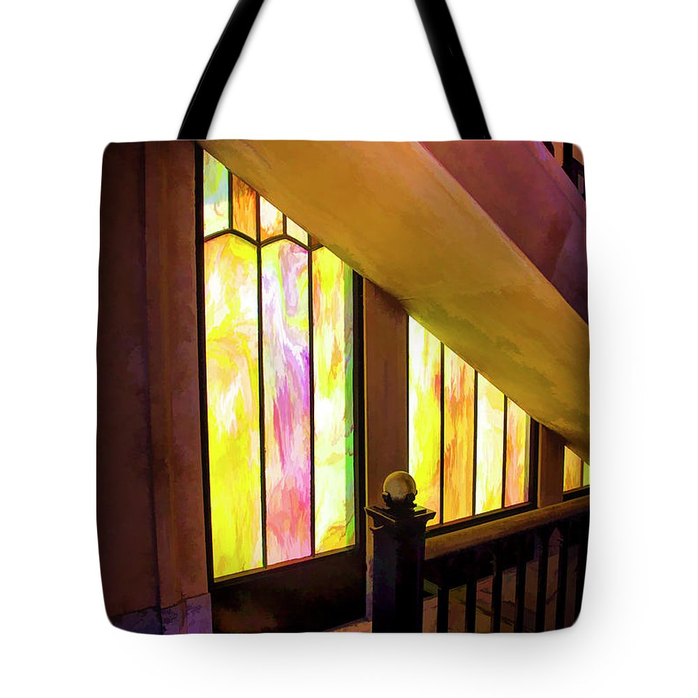 Vista Monument Washington State Historic Structures Tote Bag featuring the photograph The Vista Stairway by Rick Bragan