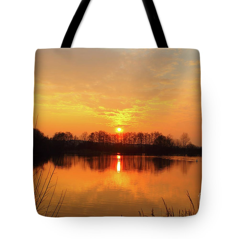 The Waal Tote Bag featuring the photograph The Waal by Smart Aviation