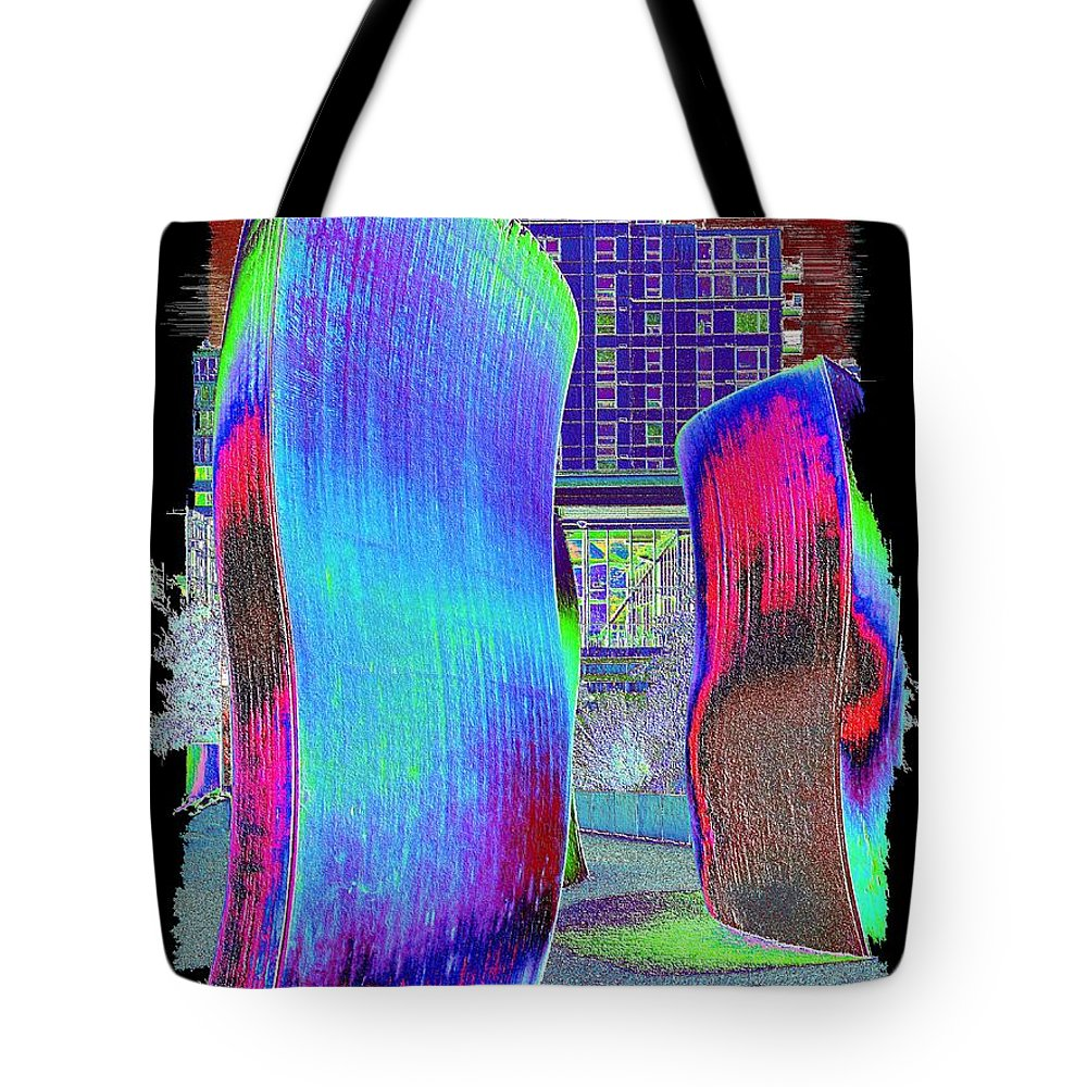 Wake Tote Bag featuring the digital art The Wake by Tim Allen