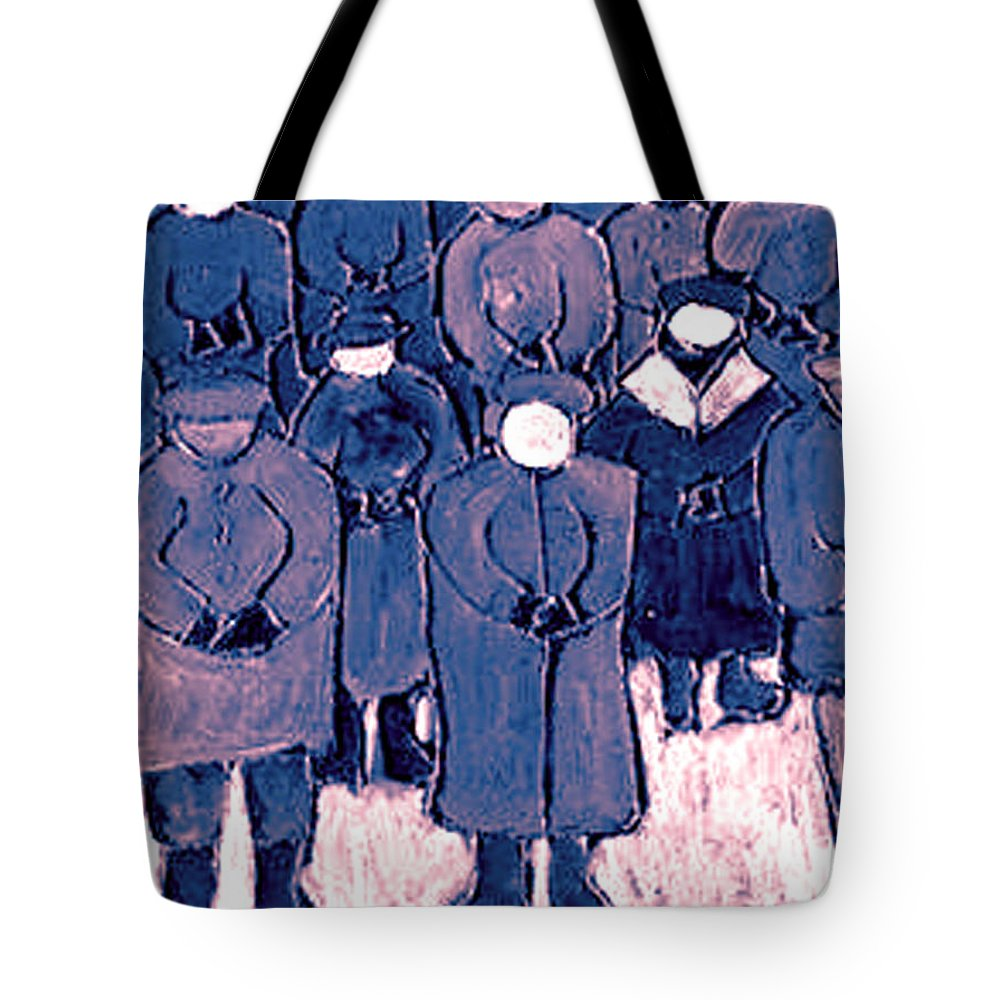 Wake Tote Bag featuring the painting The Wake by Wayne Potrafka