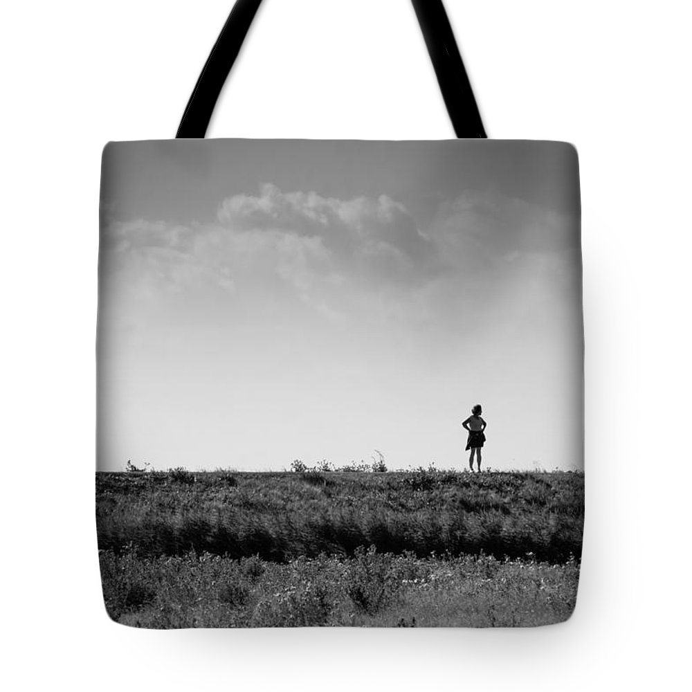 Woman Tote Bag featuring the photograph The Walk Or Sniff ? by Shaun Mills