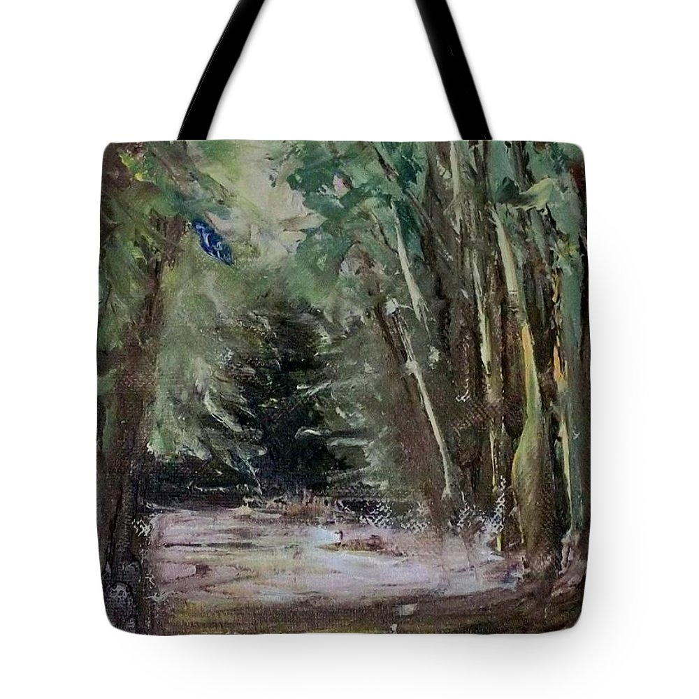 Landscape Tote Bag featuring the painting The Walk by Stephen King