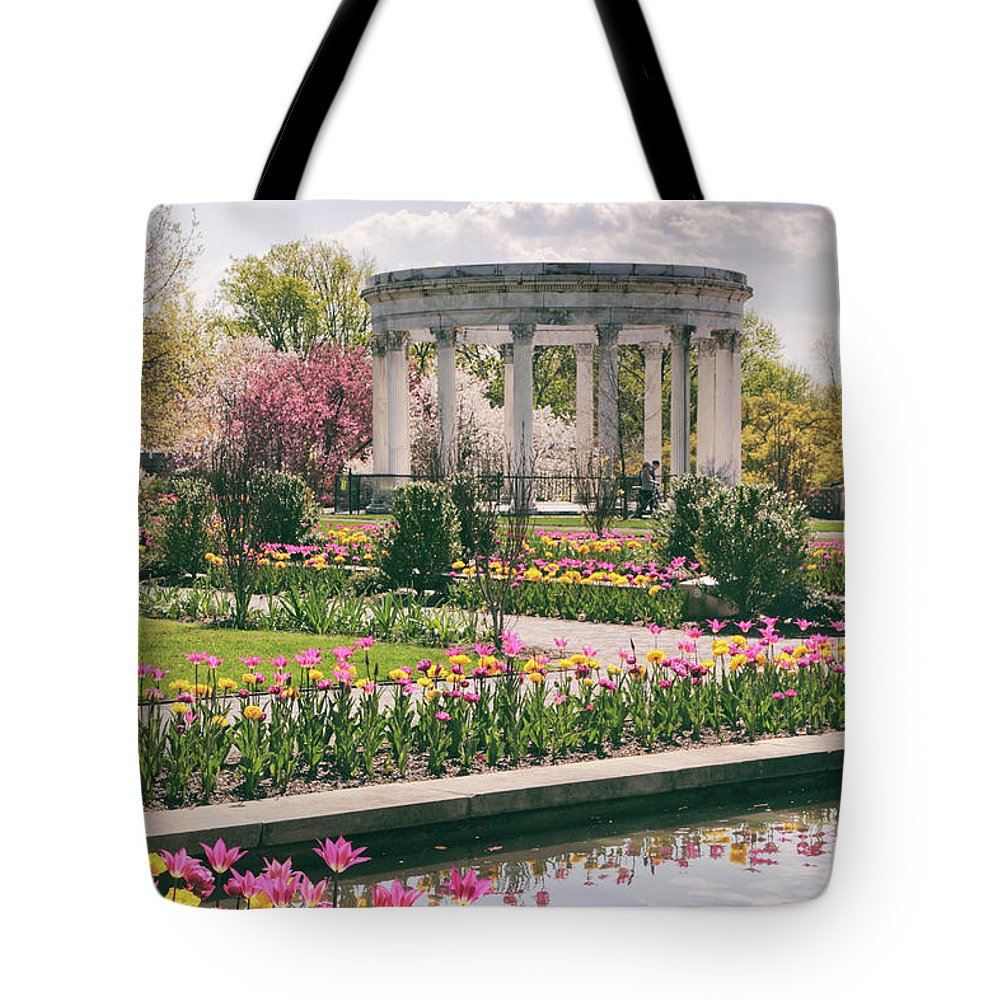 Untermyer Garden Tote Bag featuring the photograph The Walled Garden by Jessica Jenney