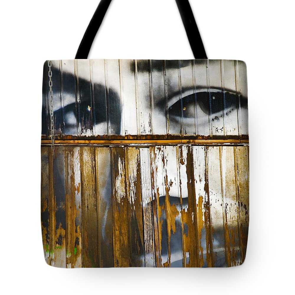 Escondido Tote Bag featuring the photograph The Walls Have Eyes by Skip Hunt
