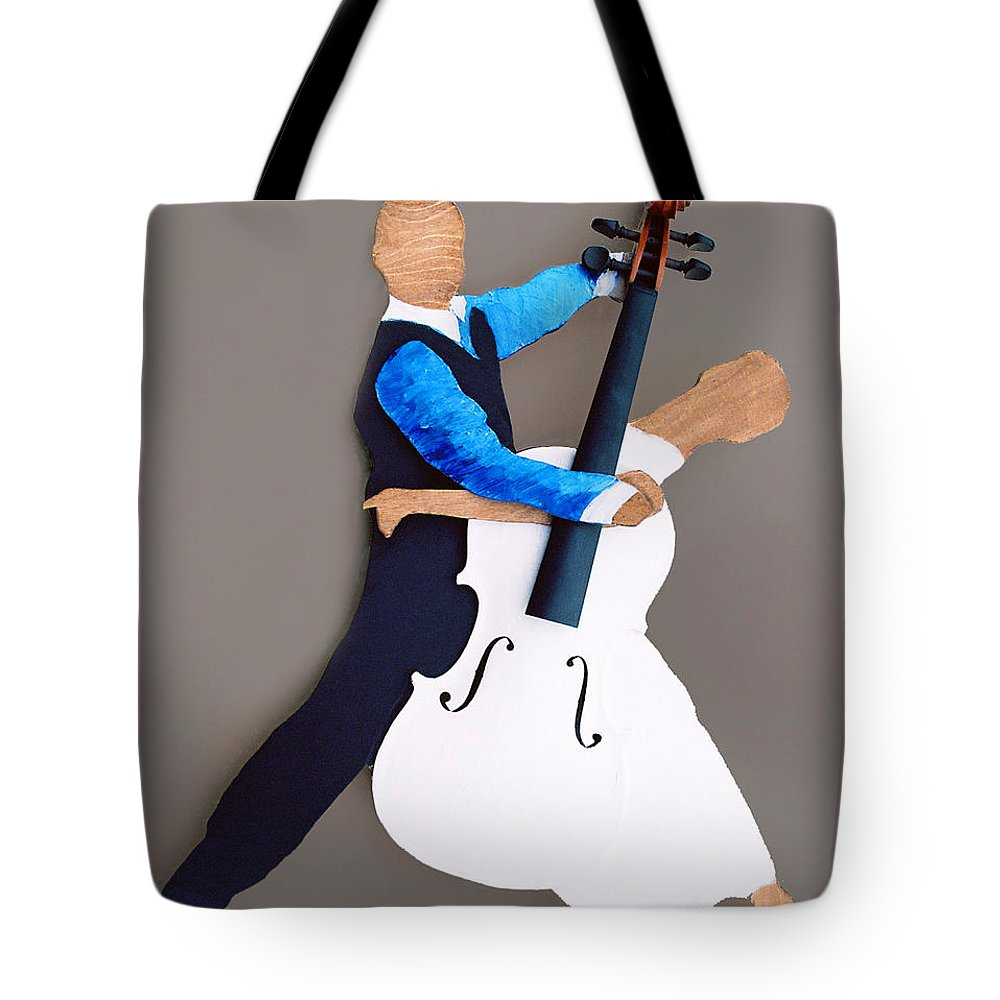 Dance Tote Bag featuring the sculpture The Waltz by Steve Karol