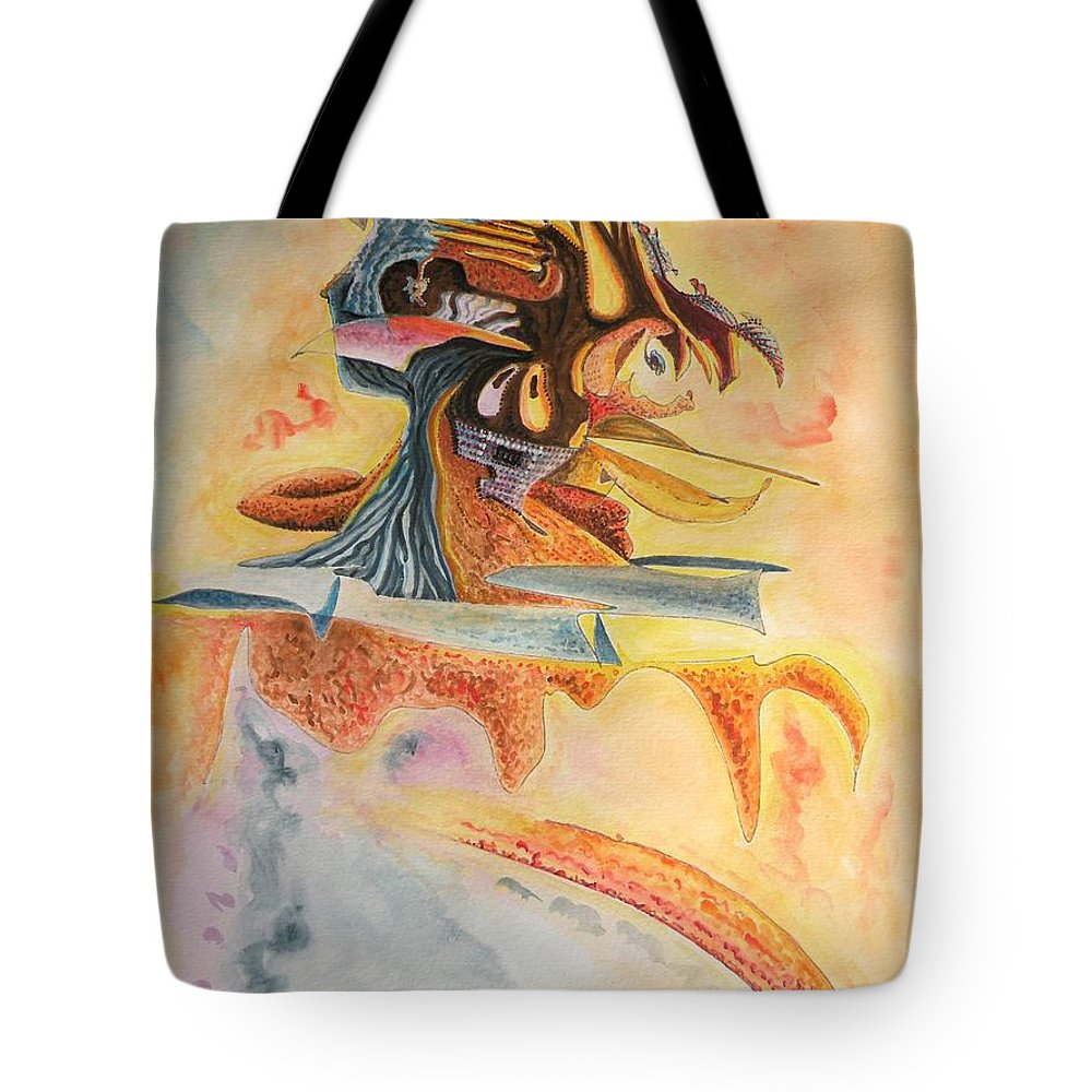 Warrior Tote Bag featuring the painting The Warrior by Dave Martsolf