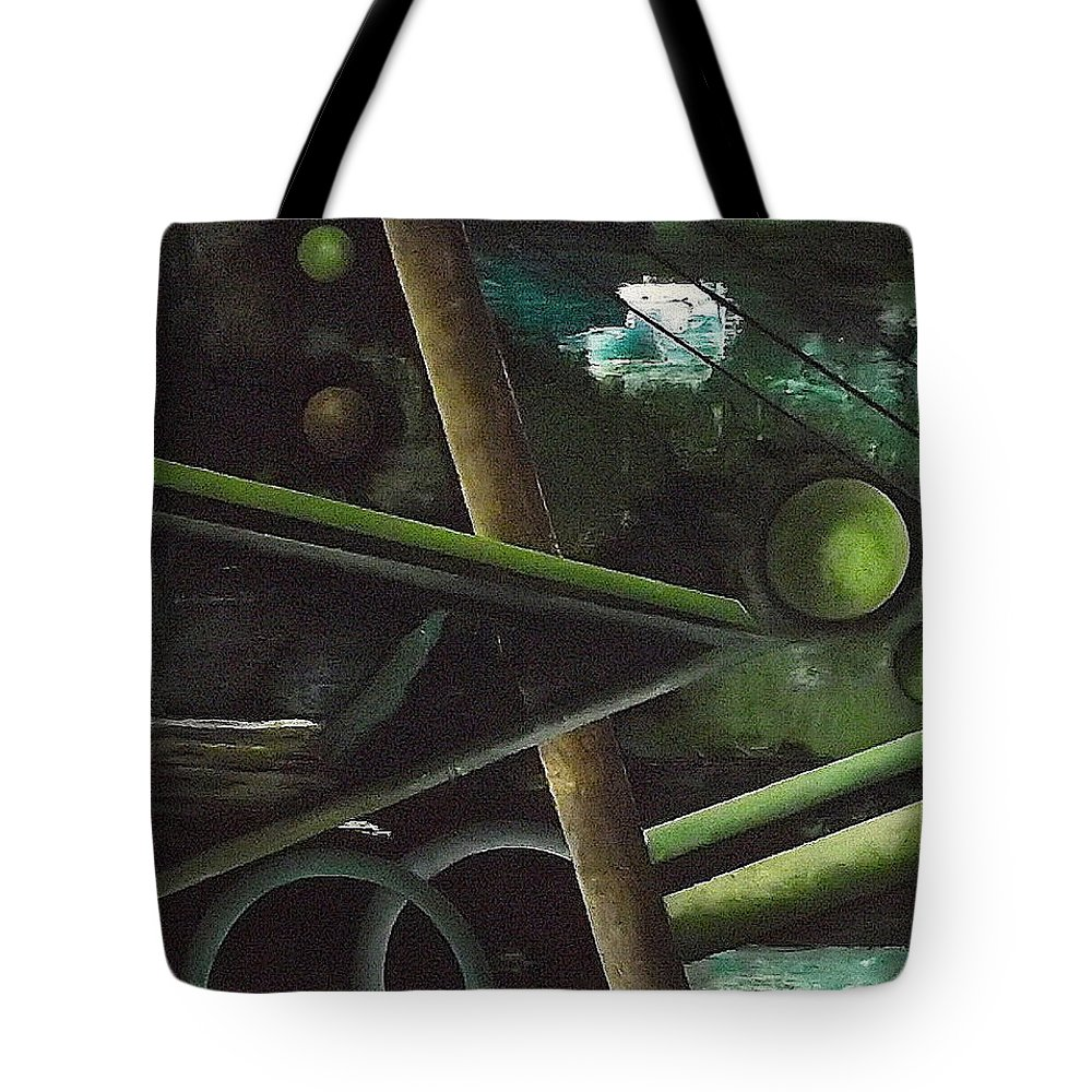 Tote Bag featuring the painting The waterfall by Ara Elena