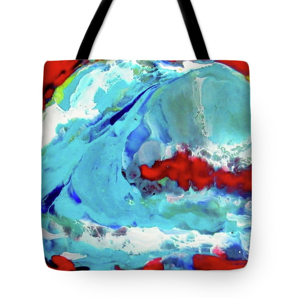Ocean Tote Bag featuring the painting The Wave #2 by JOANNE McCubrey
