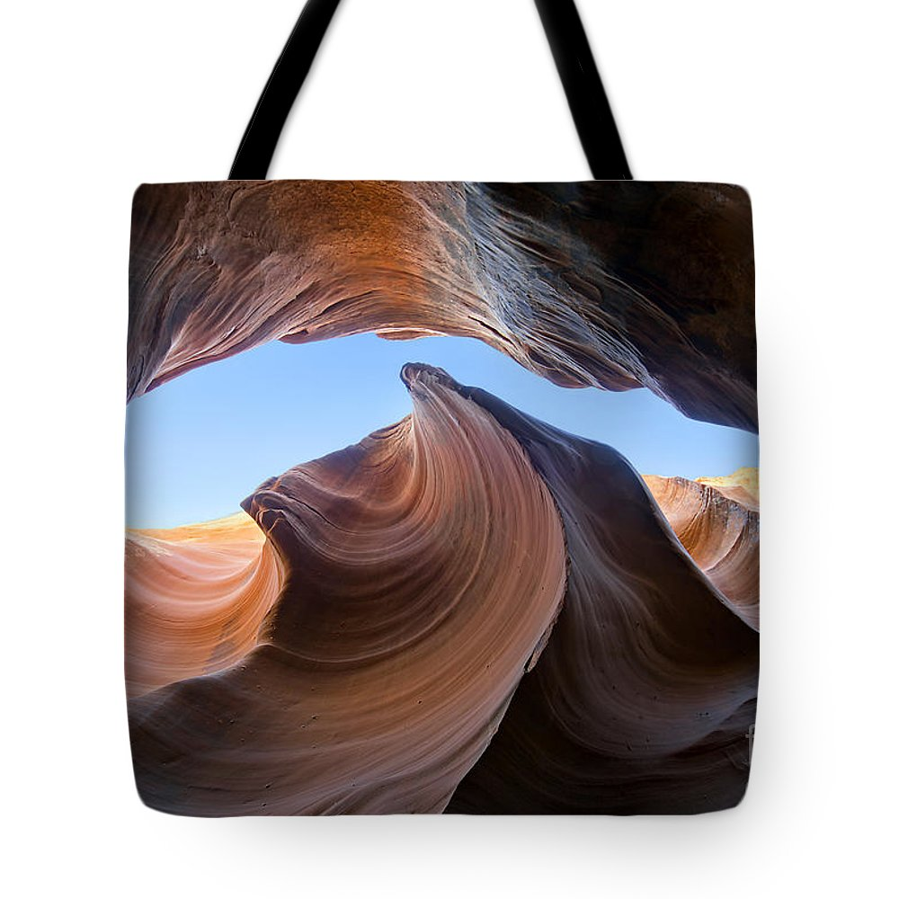 Wave Tote Bag featuring the photograph The Wave Of Antelope Canyon by Martin Konopacki