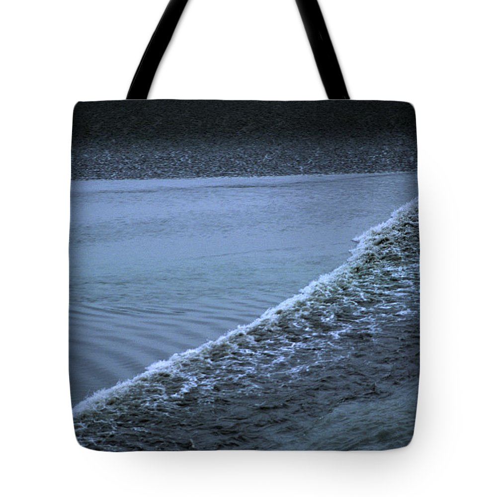 Portage Tote Bag featuring the photograph The Wave Of A Bore Tide Traveling by Stacy Gold