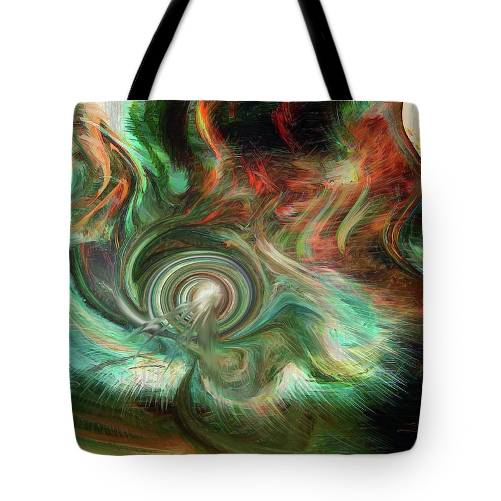 Wind Blows Tote Bag featuring the digital art The Way The Wind Blows by Linda Sannuti