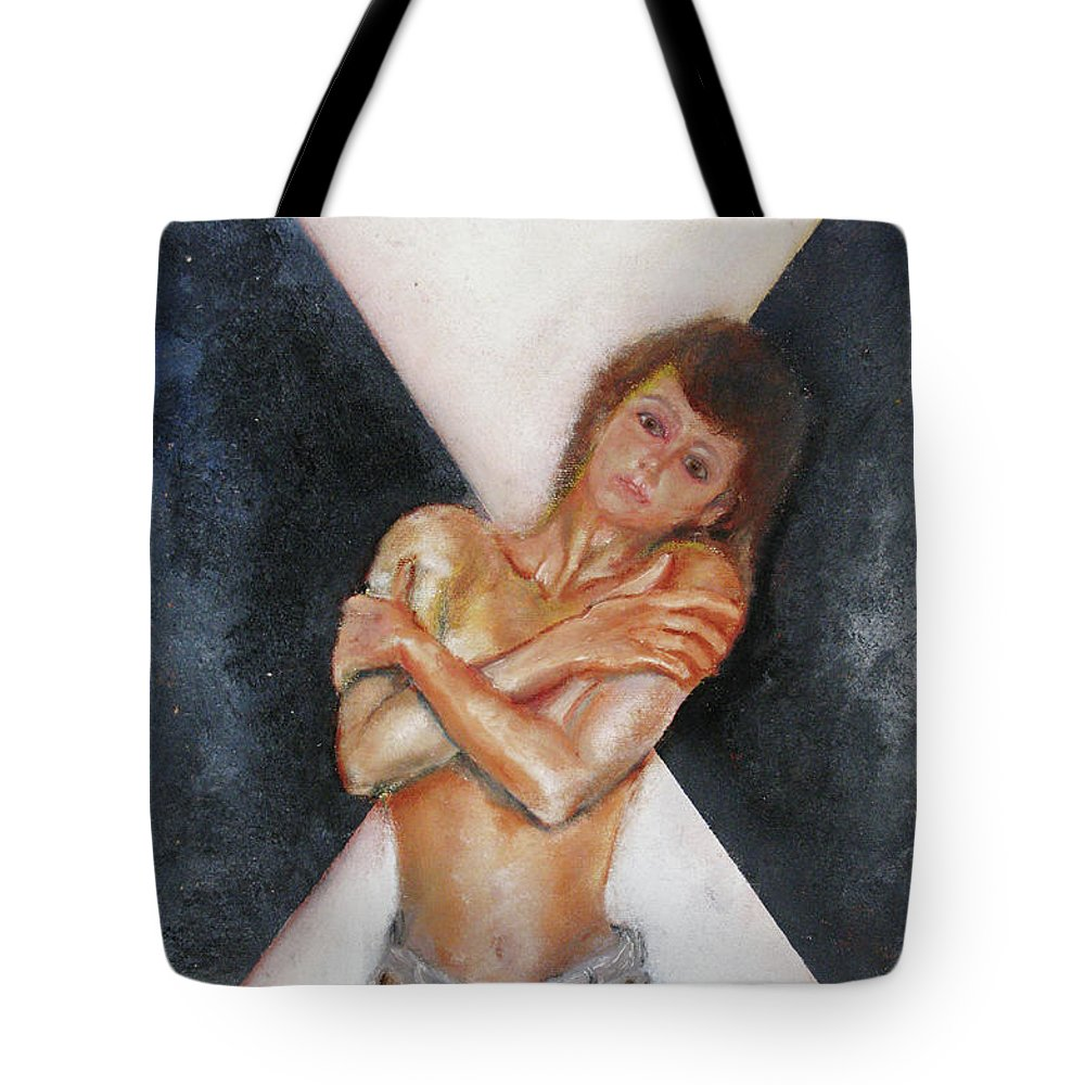 Females Tote Bag featuring the painting The Way You Make Me Feel by Tom Conway