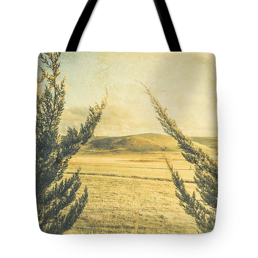 Vintage Tote Bag featuring the photograph The Wayback Meadow by Jorgo Photography - Wall Art Gallery