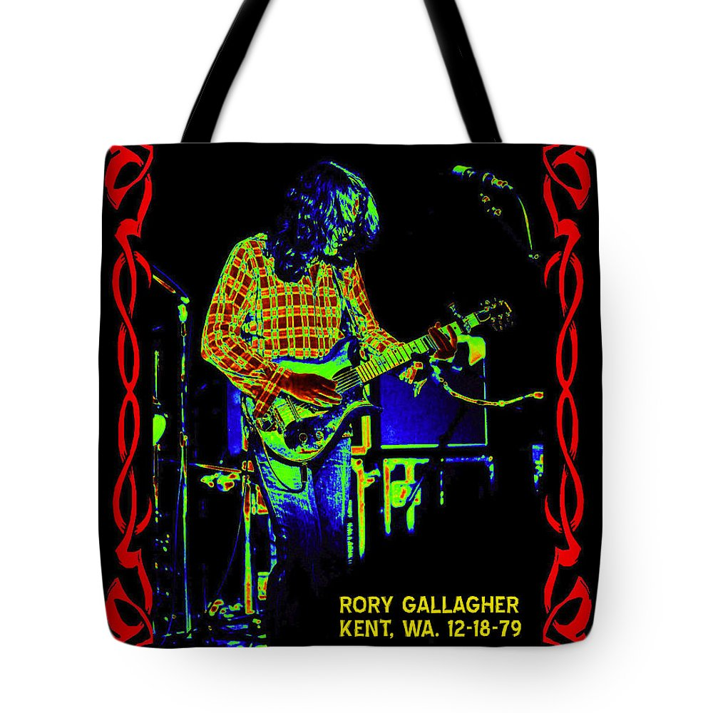 Rory Gallagher Tote Bag featuring the photograph The Wayward Child by Ben Upham