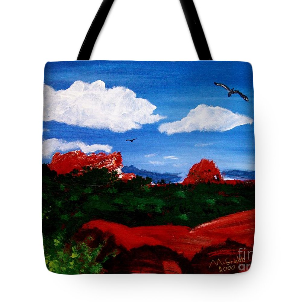 Acrylic Tote Bag featuring the painting The West by Michael Grubb
