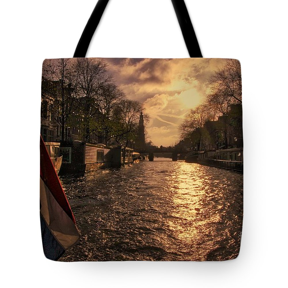 Amsterdam Tote Bag featuring the photograph The Westerkerk Amsterdam by Nick Wardekker