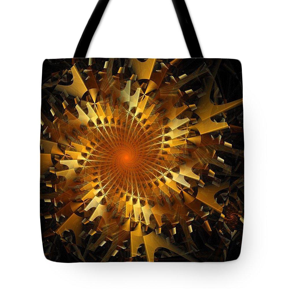 Digital Art Tote Bag featuring the digital art The Wheels Of Time by Amanda Moore
