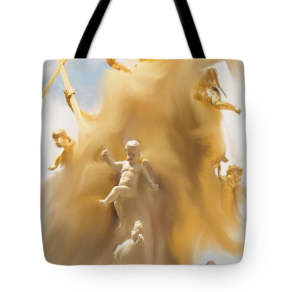 Religion Tote Bag featuring the digital art The Whirlwind by Ian MacDonald