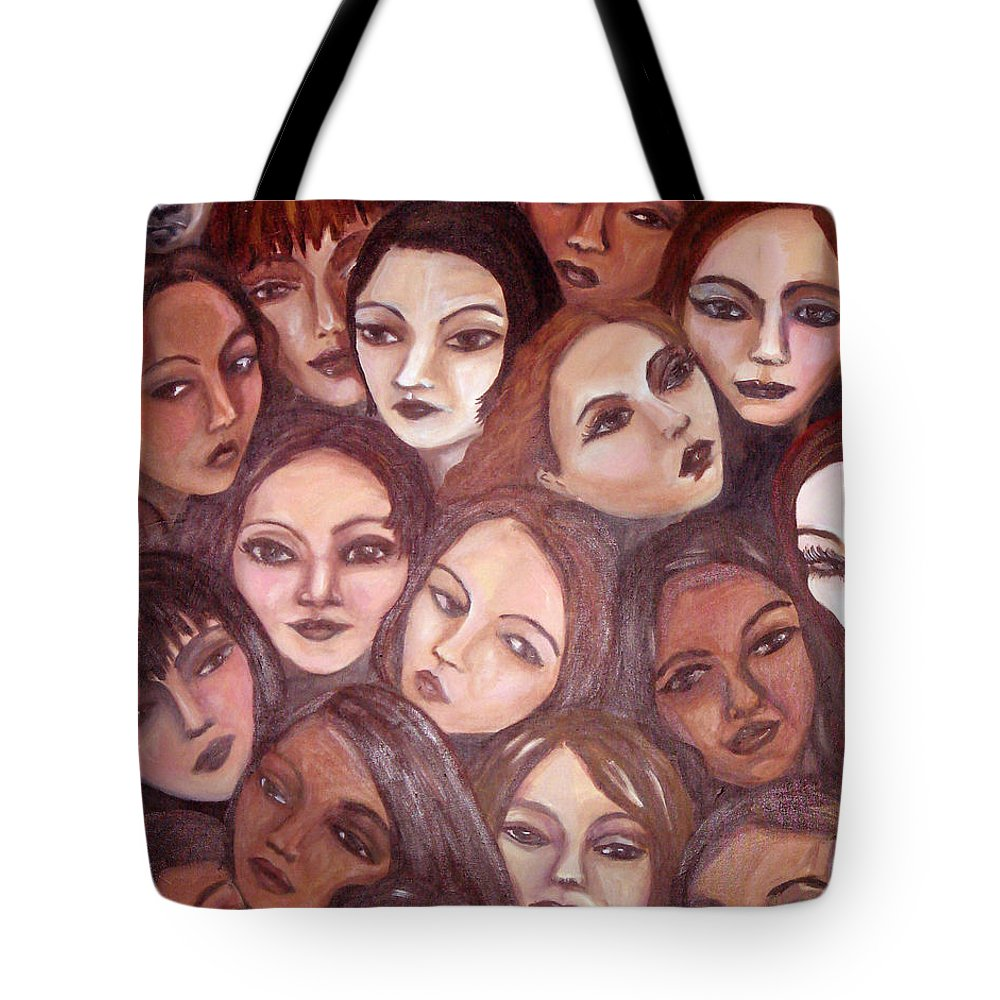 Portrait Tote Bag featuring the painting The Whispering Gate by Jenni Walford