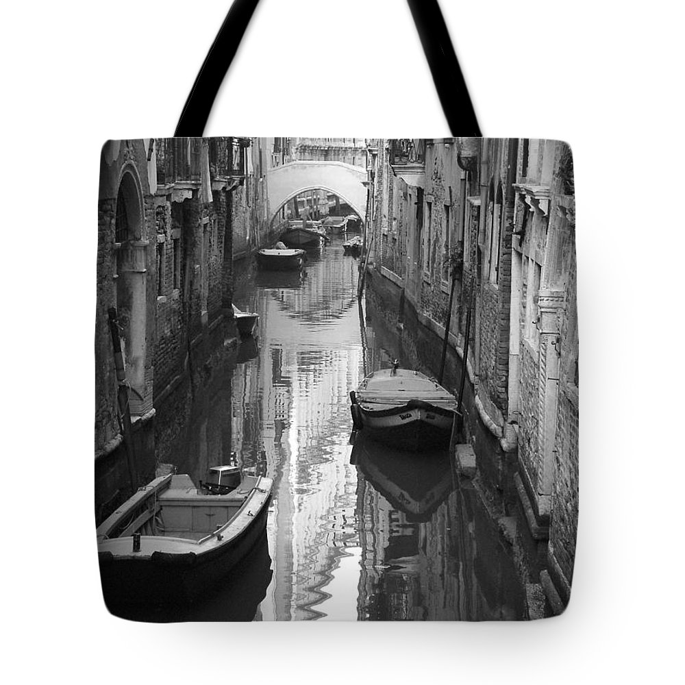 Venice Tote Bag featuring the photograph The White Bridge by Donna Corless