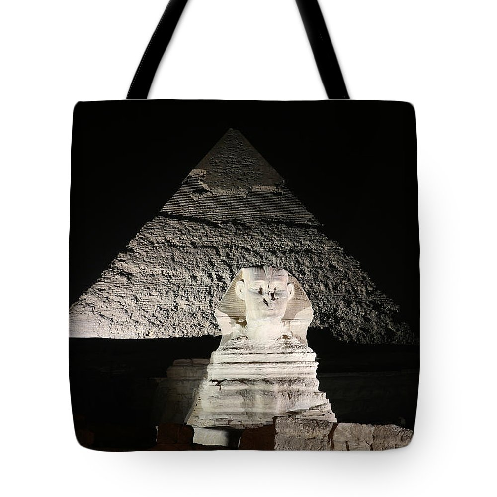 Sphynx Tote Bag featuring the photograph The White Sphynx by Donna Corless