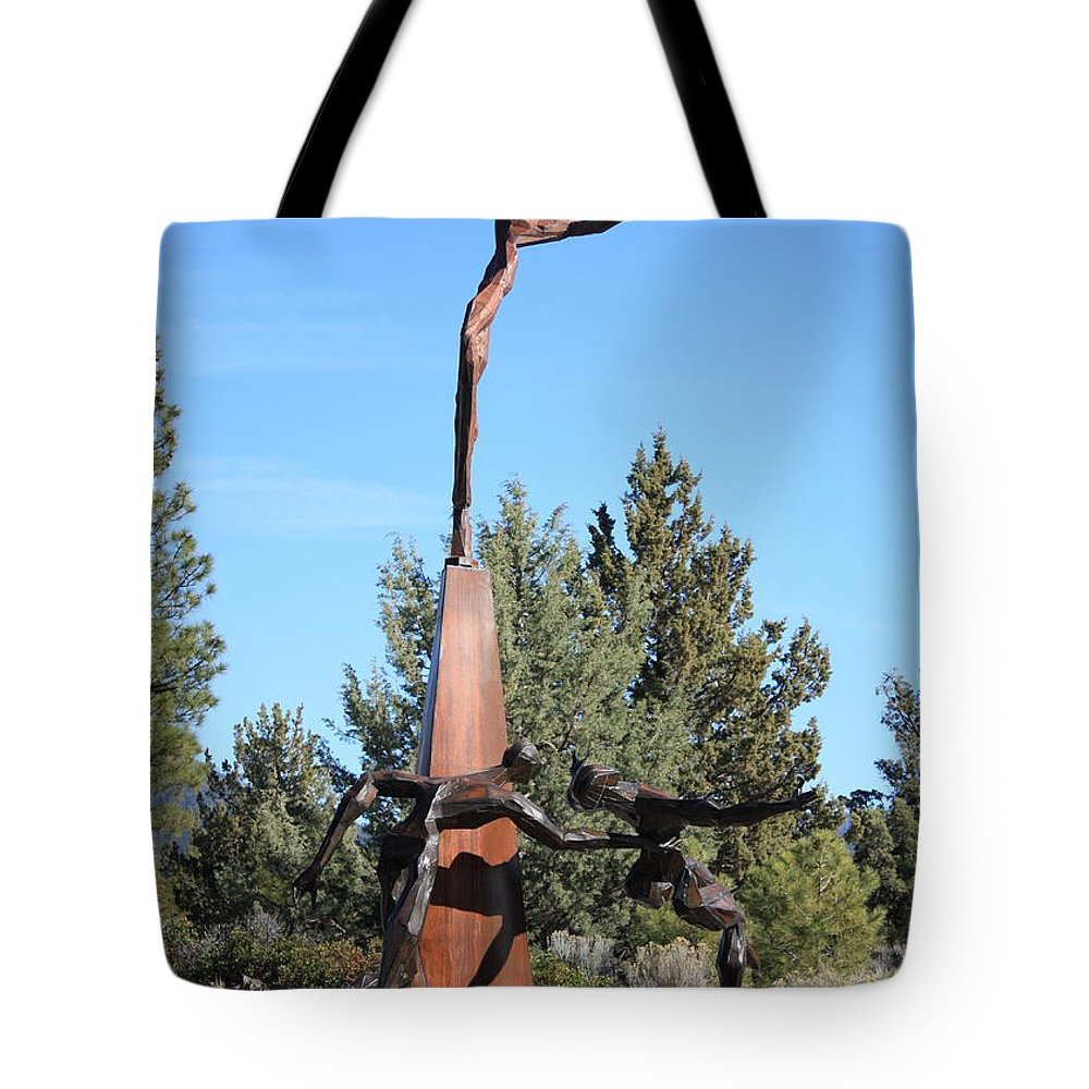 Living Memorial Sculpture Garden Tote Bag featuring the photograph The Why Group by Carol Groenen