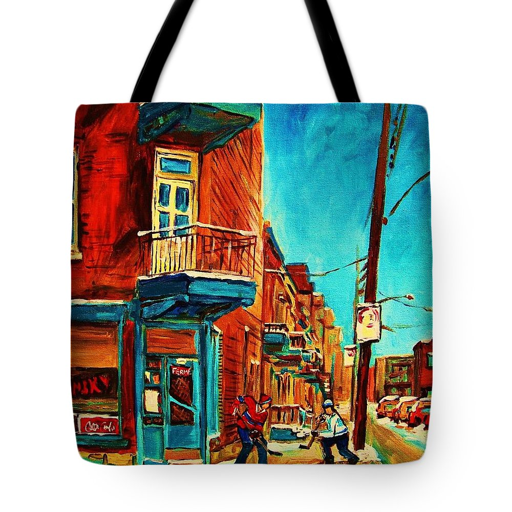 Wilenskys Doorway Tote Bag featuring the painting The Wilensky Doorway by Carole Spandau