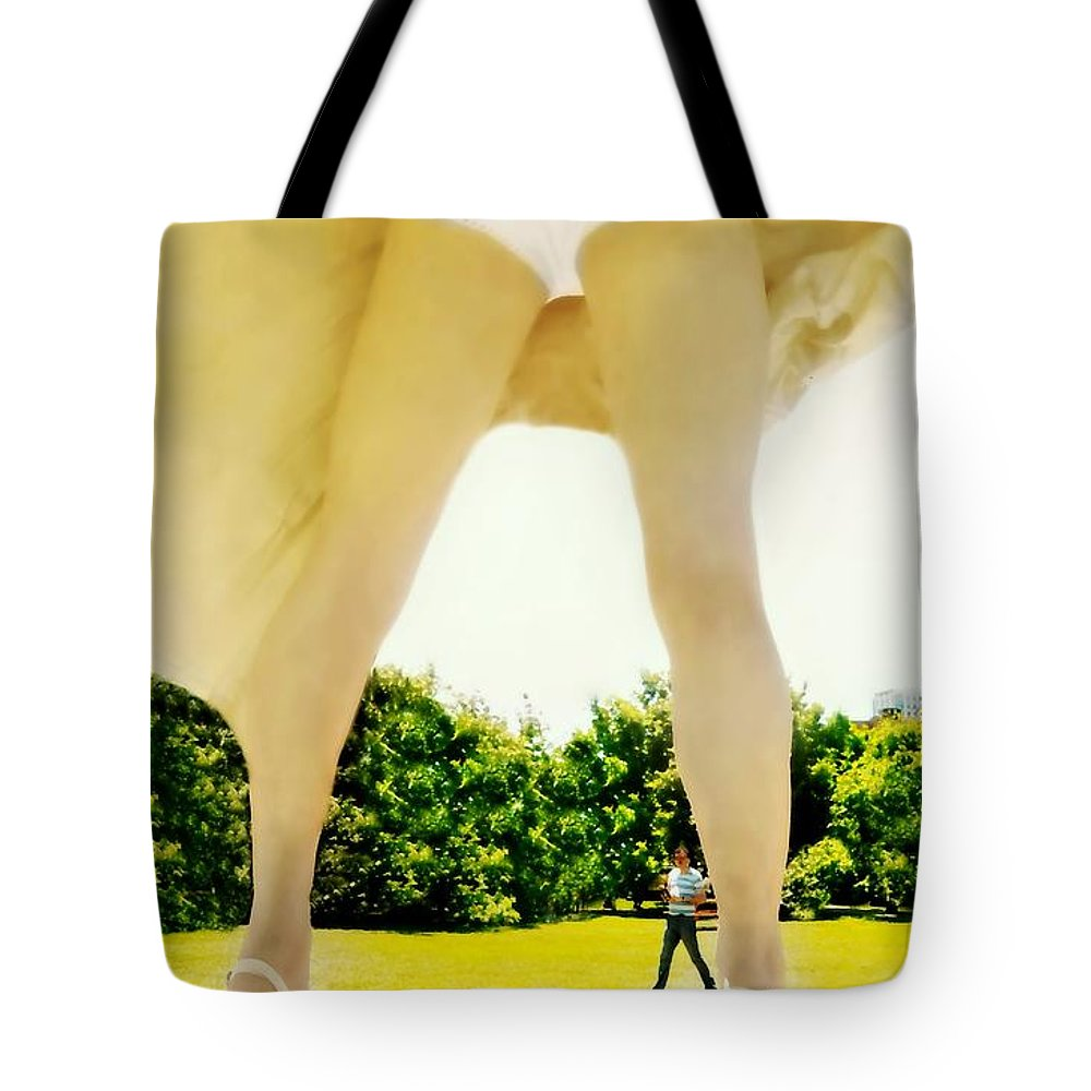 Marilyn's Bloomers Tote Bag featuring the photograph Fanny by Diana Angstadt