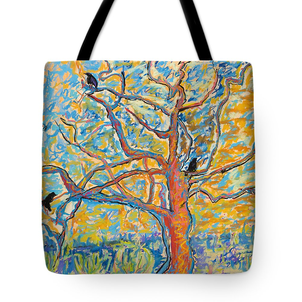 Abstract Painting Tote Bag featuring the mixed media The Wind Dancers by Pat Saunders-White