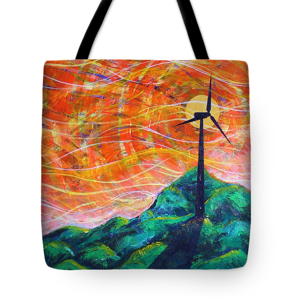 Rollin Tote Bag featuring the painting The Wind by Rollin Kocsis