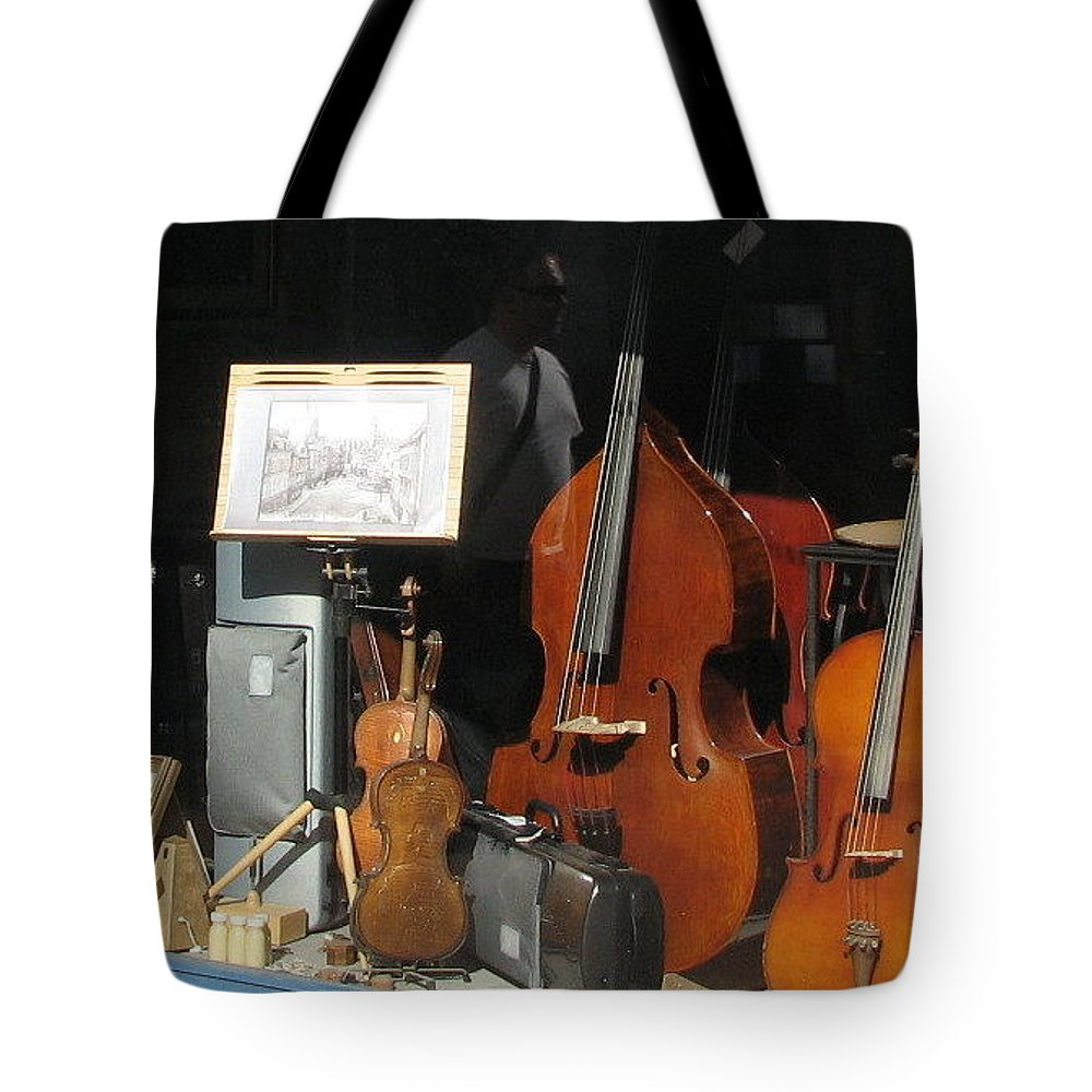 Violin Tote Bag featuring the photograph The Window In Mittenwald by Mary Ellen Mueller Legault