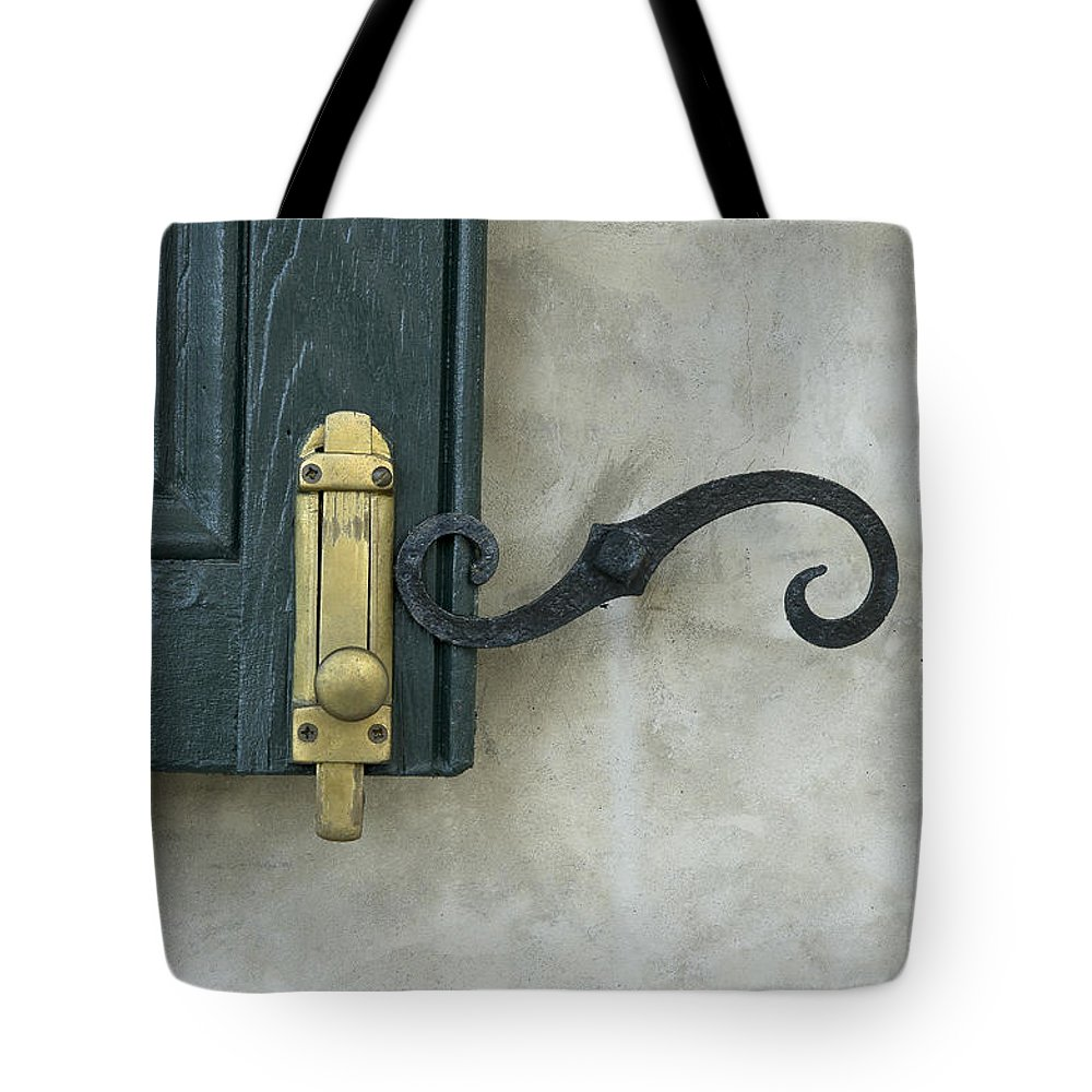 New Orleans Tote Bag featuring the photograph The Window Latch by JoAnn Grafton