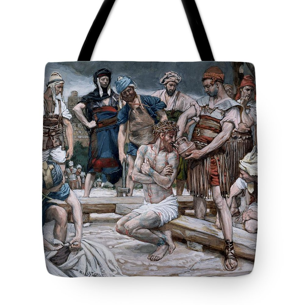Dutch Courage Tote Bag featuring the painting The Wine Mixed With Myrrh by Tissot
