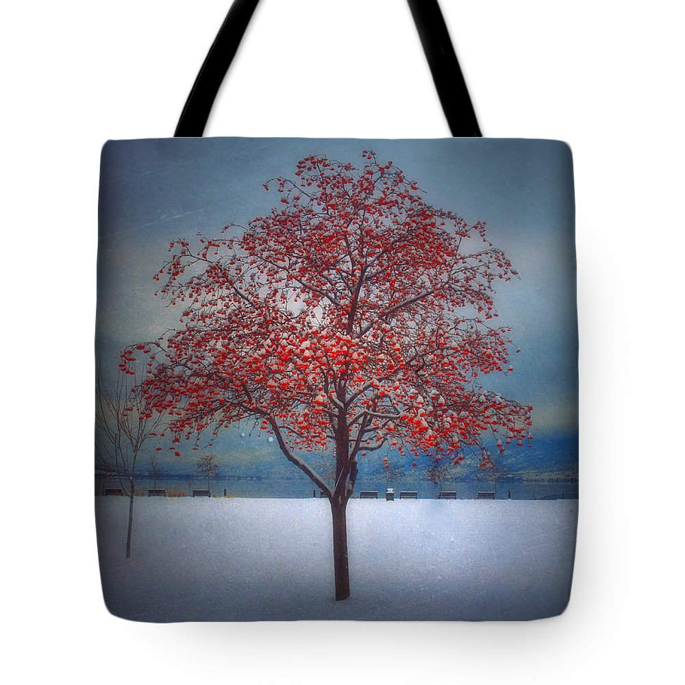 Tree Tote Bag featuring the photograph The Winter Berries by Tara Turner