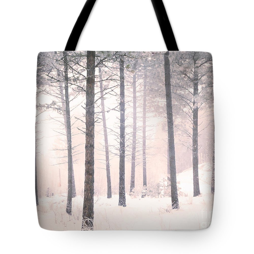 Trees Tote Bag featuring the photograph The Winter Forest by Tara Turner