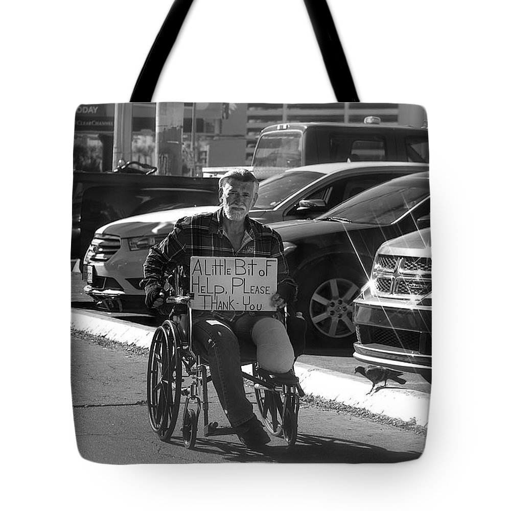 Black And White Las Vegas Tote Bag featuring the photograph The World Is A Ghetto by Michael Rogers