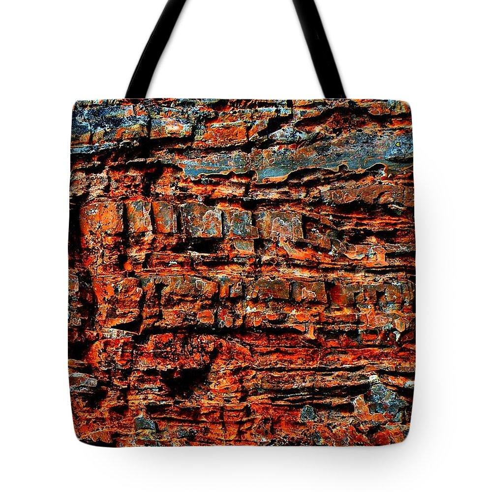 Glacier. National Tote Bag featuring the photograph The Writing Is On The Wall by Dave Martsolf