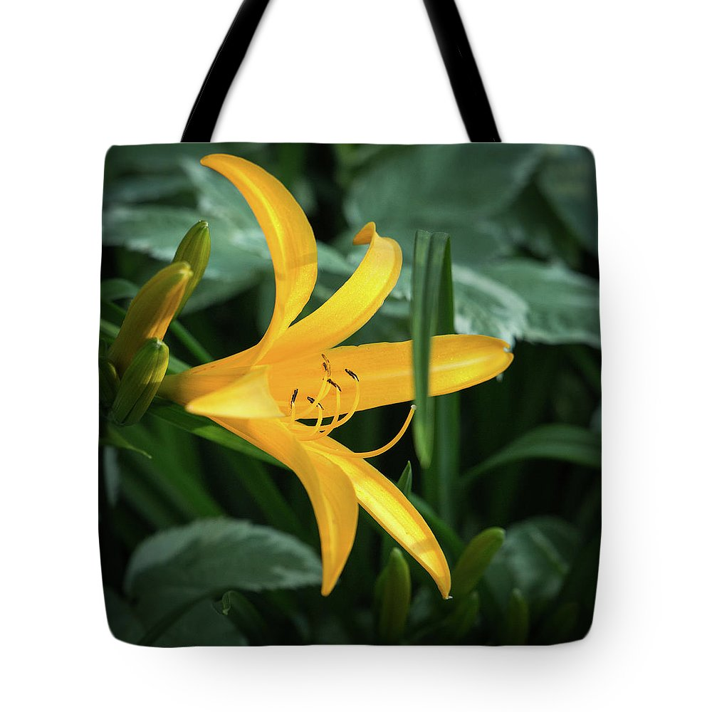 2017 Tote Bag featuring the photograph The Yelloy Lily by Mark Salamon