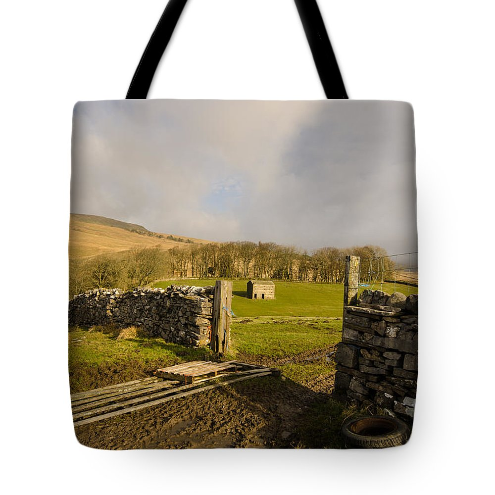 The Dales Tote Bag featuring the photograph The Yorkshire Dales by Smart Aviation