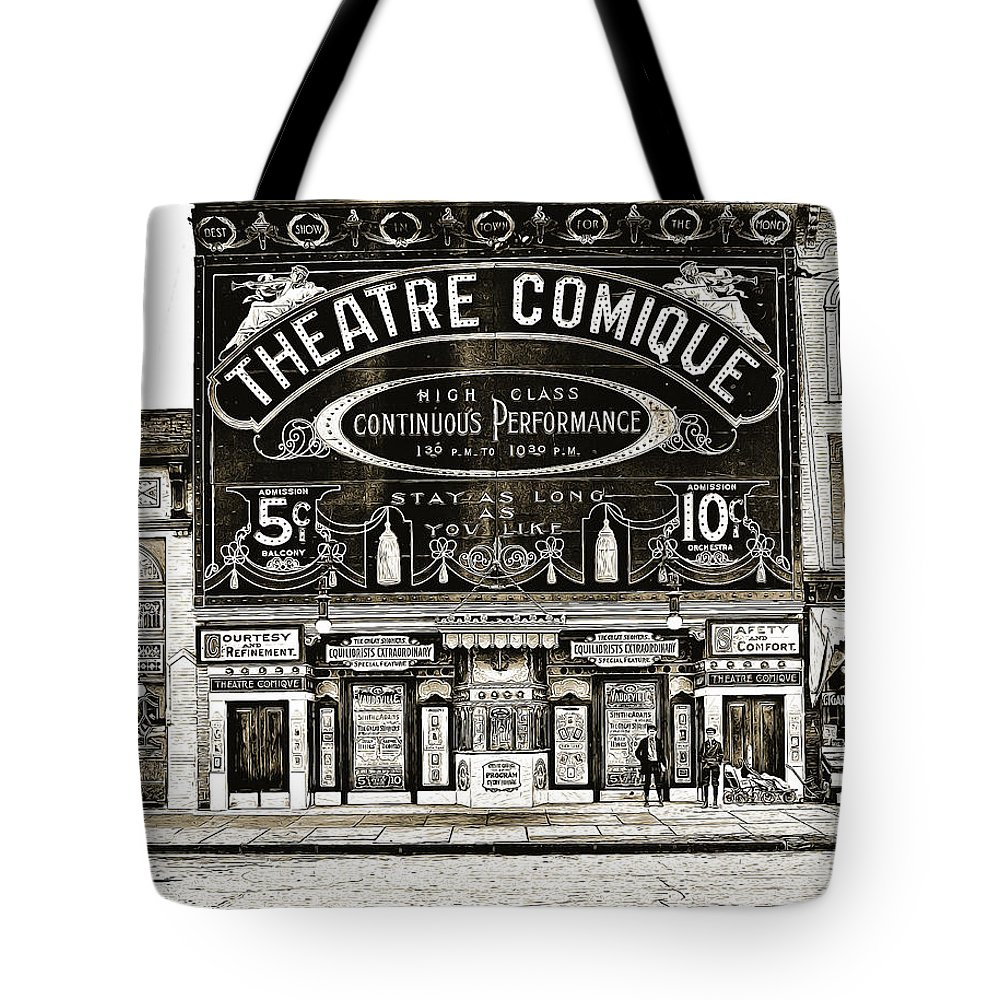 Theater Drawings Tote Bags