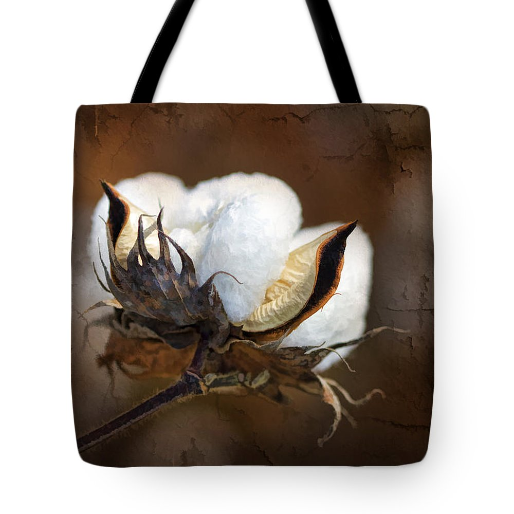 Cotton Tote Bag featuring the photograph Them Cotton Bolls by Kathy Clark