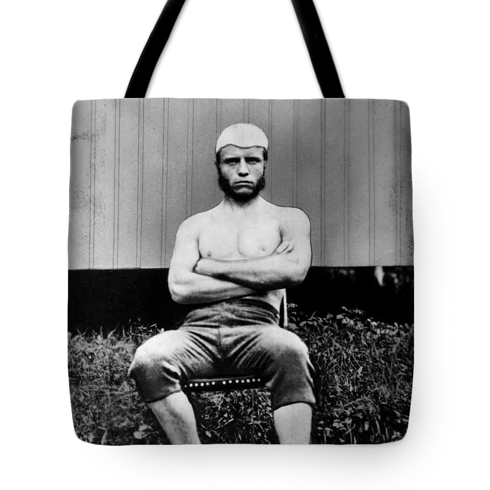 1880 Tote Bag featuring the photograph Theodore Roosevelt by Granger