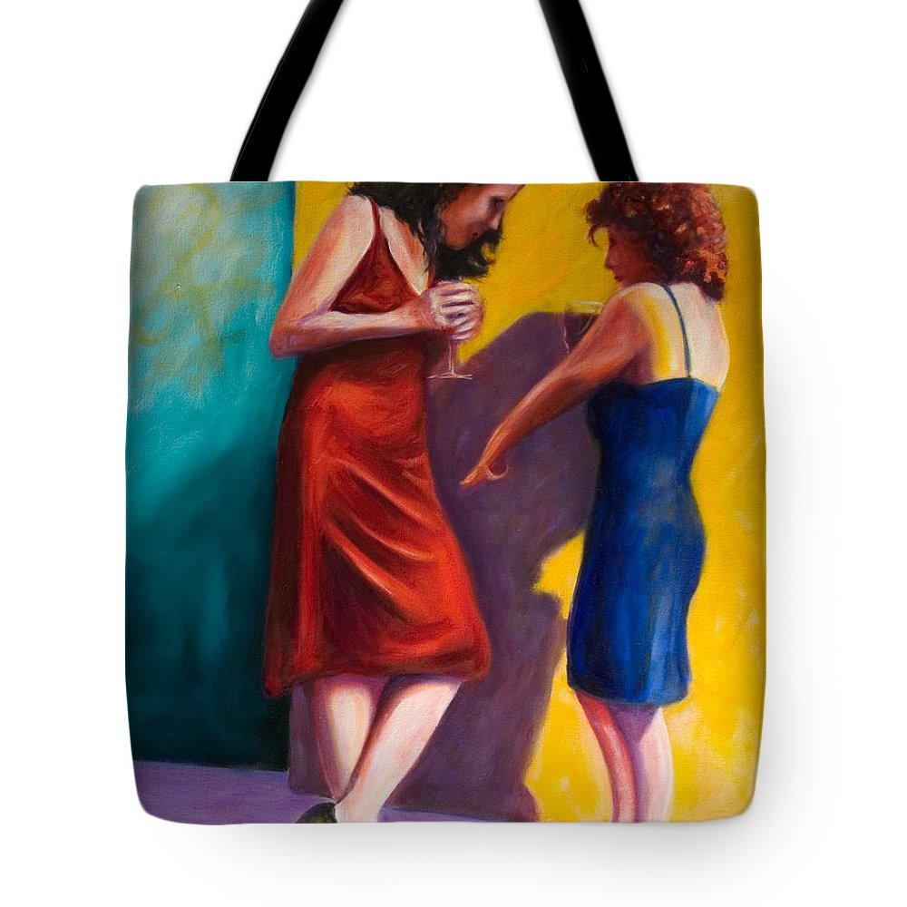 Figurative Tote Bag featuring the painting There by Shannon Grissom