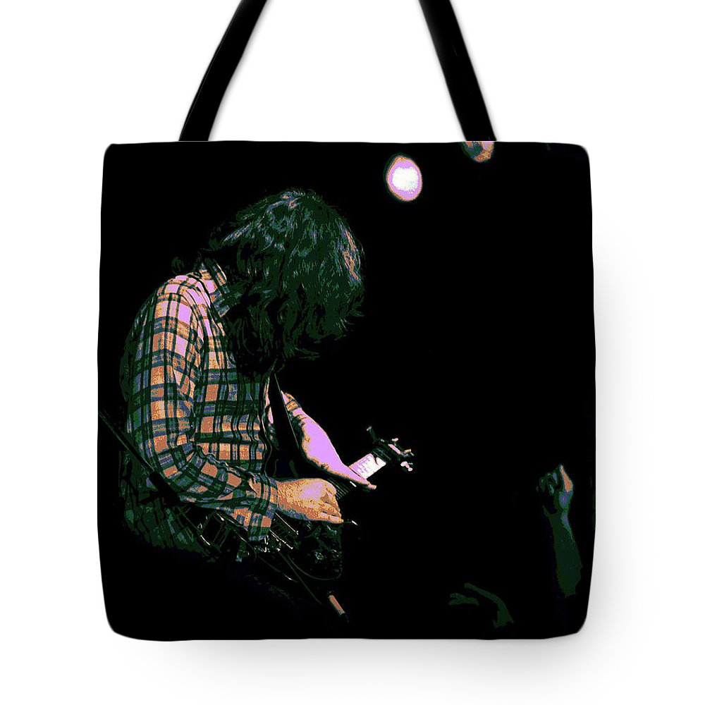Rock Musicians Tote Bag featuring the photograph There's A Light 2 by Ben Upham