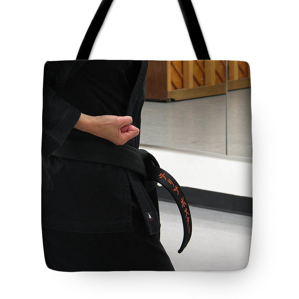 Karate Tote Bag featuring the photograph Theresa by Kelly Mezzapelle