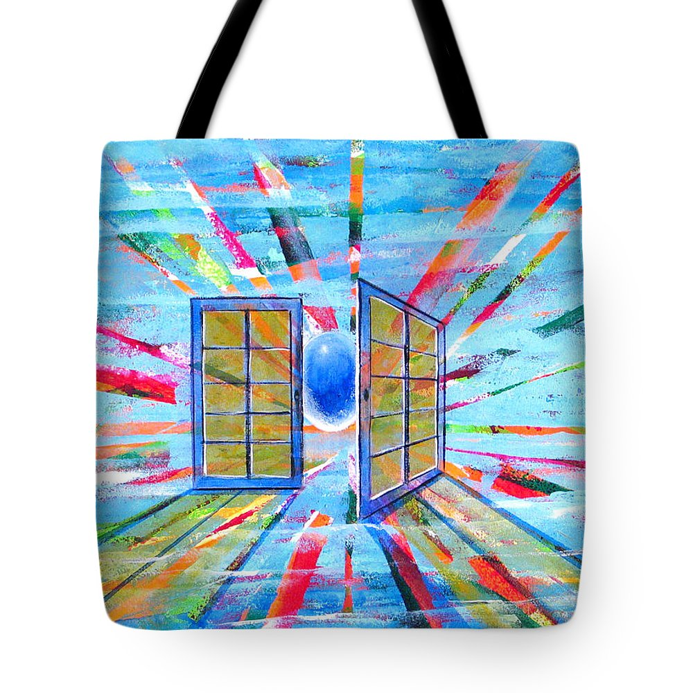 Spirt Tote Bag featuring the painting These Open Doors by Rollin Kocsis